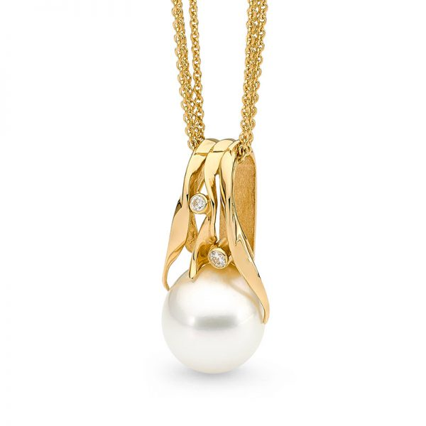 Yellow Gold Seagrass Pendant