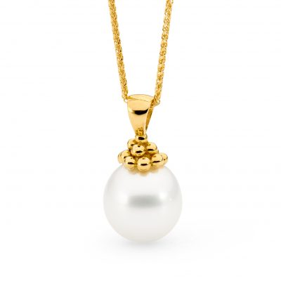 Yellow Gold And Pearl Pendant