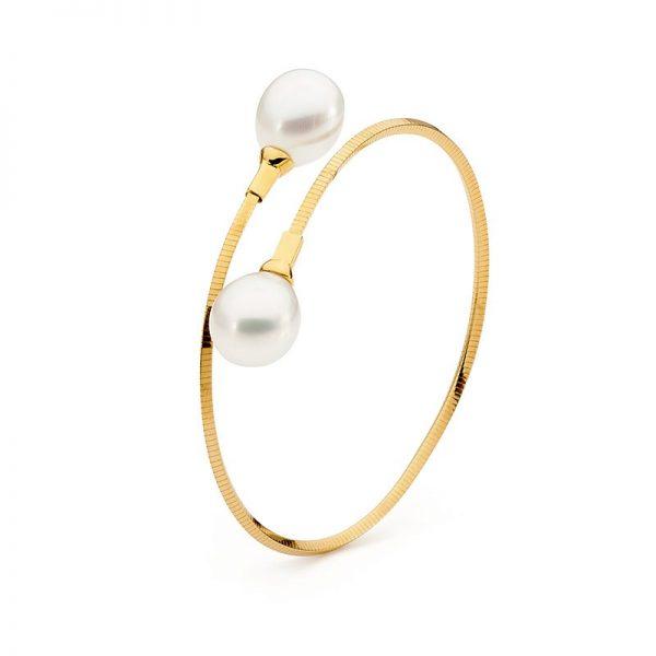 Single loop pearl bangle