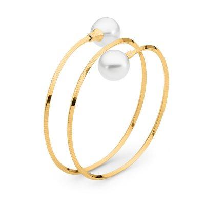 Double loop pearl bangle
