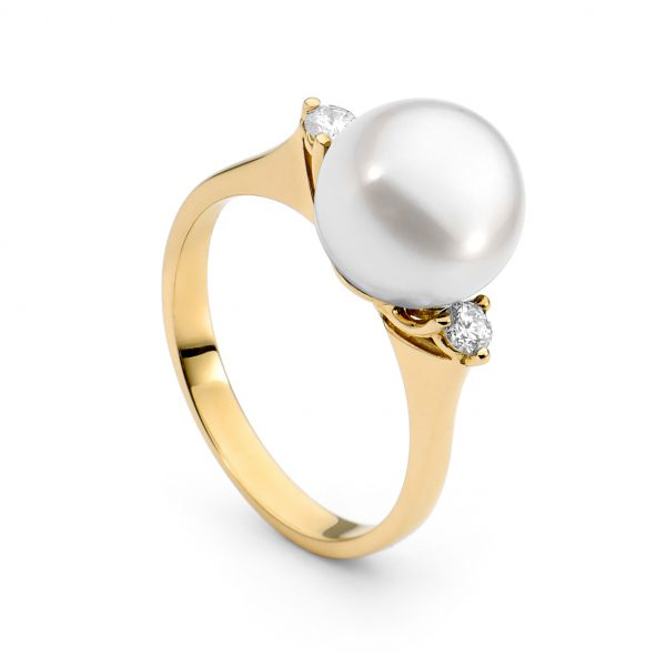 Diamond Accent Pearl Ring