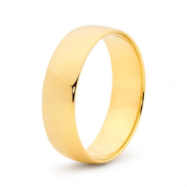 Mens Barrell Gold Ring