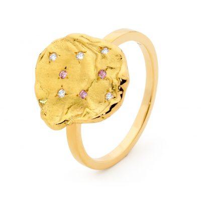 Argyle Diamond Coin Ring