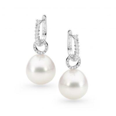 Detachable Pearl Diamond Earrings