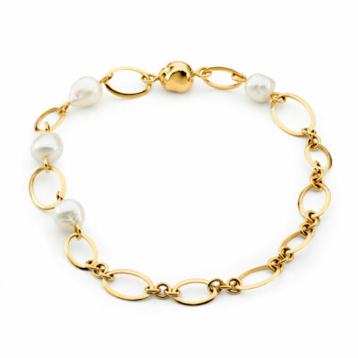 Pearl Chain Link Necklace