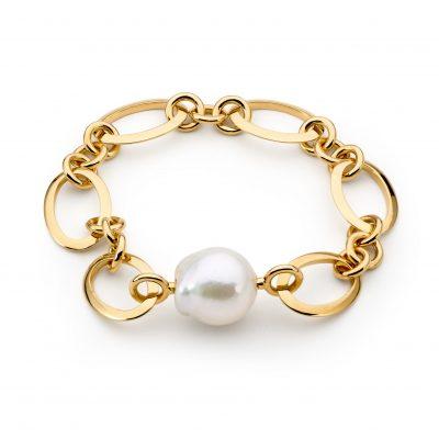 sky oval link bracelet